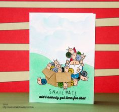 Morbider Montag #5 My Favorite Things You gnome me Studio L2e Sucky Day Part 1 Snail Mail funny card
