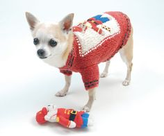 Shop where every purchase helps shelter pets! Oscar Newman Beary Merry Christmas Sweater & Toy - Cranberry - from $68.95