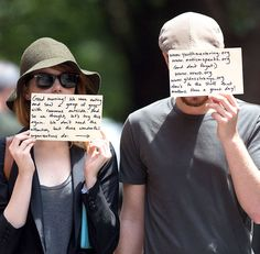 Emma Stone and Andrew Garfield Have an Awesome Message for the Paparazzi - Cosmopolitan