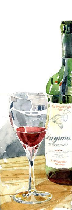 Friday night wine bottle