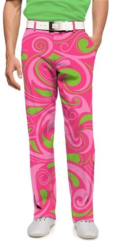 Mens Golfing Pants by Loudmouth Golf - Cotton Candy.  Buy it @ ReadyGolf.com