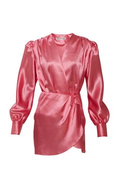 Shop Long Sleeve Satin Mini Dress With Shorts. Mach & Mach's satin mini dress is designed with long sleeves and a wrap silhouette. Pretty Little Dress, Little Dresses, Women's Fashion Dresses, Girl Fashion, Womens Fashion, Ny Dress, Bodycon Outfits, Satin Mini Dress, Fashion Project