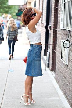 187 meilleures images du tableau Jupe en jean   Jean skirts, Cowgirl ... 969cc120bcfe