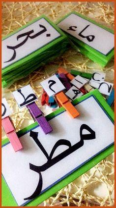Arabic Alphabet Letters, Alphabet Letter Crafts, Arabic Alphabet For Kids, Preschool Learning Activities, Alphabet Activities, Preschool Activities, Arabic Lessons, Islam For Kids, Arabic Language