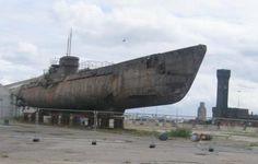U-534 in the docks, Liverpool