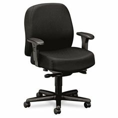 Hon Mid-Back Task Chair, 32-1/4 by 29-1/2 by 43-1/2-Inch, Black by Hon. $588.87. Task mid-back chair is designed for 24-hour applications and users up to 350 lb. Generous seating proportions provide exceptional comfort. Chair is specially designed for multi-shift intensive-use environments. Design features height and width adjustable arms and superior Nano-Tex stain-resistant fabric. Functions include pneumatic seat-height adjustment, back height adjustment, seat glide mec...