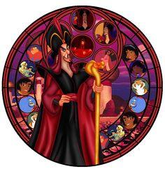 Stained glass Jafar by ~IlSelma on deviantART