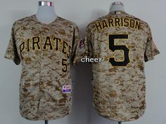 NEW Pittsburgh Pirates 5 2015 Authentic Andrew Harrison Alternate Jersey