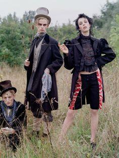 Edie Campbell for US Vogue December 2013 by Tim Walker