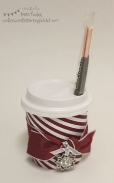 miniature coffee cups for crafts | Christmas Mini Coffee Cup by LorriHeiling - Cards and Paper Crafts at ...