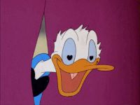 Donald Duck amor olhos Gif animado | Adesivos de telegrama
