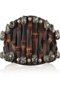 Gucci Embellished bamboo cuff | NET-A-PORTER