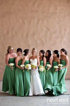 green bridesmaids dress #green wedding