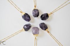 Amethyst #necklace, #gold,