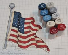 One Krafty Kat: Patriotic Copic Colors Copic Marker Art, Copic Pens, Copic Sketch Markers, Copic Art, Copics, Copic Markers Tutorial, Spectrum Noir Markers, Color Of The Day, Alcohol Markers