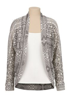 Tribal Print Open Front Cardiwrap (original price, $29) available at #Maurices