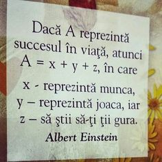 Succesul in viata - Viral Pe Internet Motivational Quotes, Inspirational Quotes, Reality Of Life, Mood Pics, Albert Einstein, Spiritual Quotes, Beautiful Words, Motto, Love Quotes