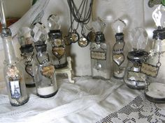 Soldered altered fancy charmy lovely bottles. Everything I love
