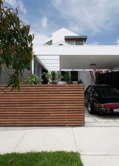 front fence and driveway gate. Contemporary Home in Sydney, Australia