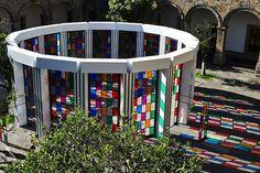 Daniel Buren's Colorful Labyrinth in Mexico (courtesy of Galeria Hilario Gualguera)