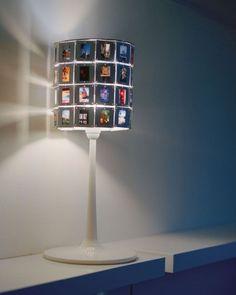 I've got hundreds of slides! Love this lamp!