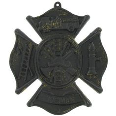 Show your support in our courageous fireman with this Cast Iron Fireman Plaque. It measures approximately 8 in height by 7 in width. Fireman Nursery, Fireman Room, Fire Truck Room, Wall Decor Online, Art Craft Store, Metal Wall Decor, Room Themes, Metal Walls, Fire Trucks