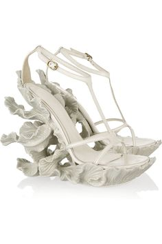 This is what the Little Mermaid would wear to her wedding.... Sculpted resin and leather sandals by Alexander McQueen