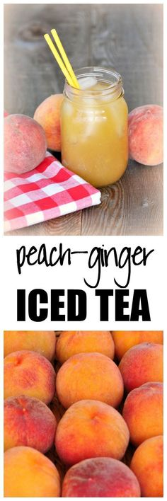 Peach-Ginger Iced Green Tea . Totally refreshing and healthy! from Flavour and Savour