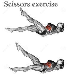 Scissors exercise