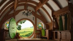 Anyone who has seen The Lord of the Rings or The Hobbit movies knows what a hobbit house essentially looks like. On… by precious Tolkien, Hobbit House Interior, Round House Plans, Earth Sheltered Homes, Fairytale House, House Plans With Pictures, Crazy Houses, Earth Homes, The Hobbit
