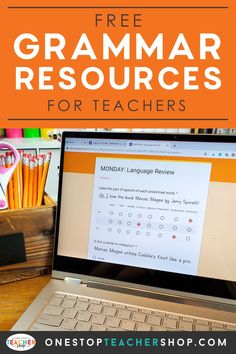 A collection of FREE Grammar Resources for teachers! These printable and digital Grammar Practice activities are perfect for daily review, language arts centers, distance learning, homework, morning work, and more! Be sure to download them all! Available for 1st Grade, 2nd, 3rd, 4th, 5th, 6th, 7th, and 8th. Grammar Games, Grammar Practice, Grammar And Punctuation, Grammar Activities, Teaching Grammar, Teaching Writing, Grammar Review, Middle School Teachers, Word Study