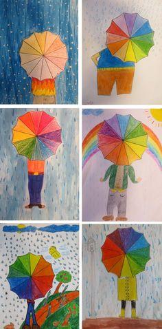 Círculo cromático + Paraguas