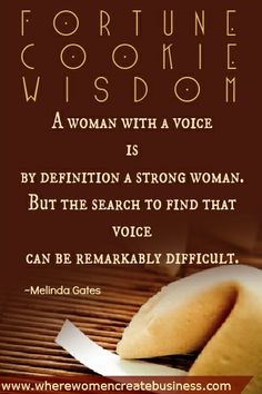 Fortune Cookie WIsdom: Voice #quotation #quote #inspiration