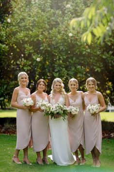 Blush bridesmaids Bridesmaids, Bridesmaid Dresses, Wedding Dresses, Intense Games, Best Day Ever, How Beautiful, White Flowers, Wedding Styles, Our Wedding