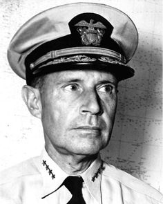Admiral Raymond A. Spruance. Commander at Battle of Midway and Battle of the Phillipine Sea.