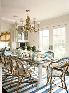 #Dining Love the casual chairs http://pinterest.com/altogetherhome/