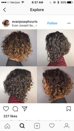 Hair Styles for Women That Enhance Their Beauty – HerHairdos Haircuts For Curly Hair, Curly Hair Cuts, Short Curly Hair, Quick Hairstyles, Long Face Hairstyles, Curly Bob, Curly Hair Styles, Gray Hairstyles, Hair Upstyles