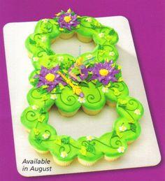 Disney Tinker Bell Cake Decorating Kit, using cupcakes Tinkerbell Birthday Cakes, Tinkerbell Party, Fairy Birthday Party, 8th Birthday, Birthday Parties, Birthday Cupcakes, Tinkerbell Disney, Tinkerbell Fairies, Surprise Birthday