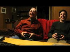 84-Year-Old Grandpa Has Fun Playing Video Games With His Grandson