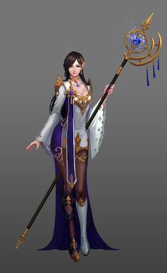 White Mage by Sol Son on ArtStation. Fantasy Art Women, Dark Fantasy Art, Fantasy Girl, Girls Characters, Fantasy Characters, Female Characters, Female Character Design, Character Art, Magician Costume