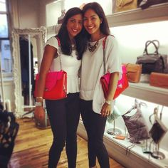 We love when the @Bloomingdale's team visit our showroom with Rebecca Minkoff!