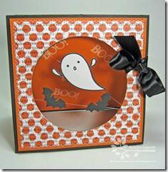 spooky thread spinner card