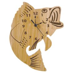 Your little one, and any other fishing fans in the house, will love keeping time with the Trend Lab Northwoods Owl Wall Clock. Clock Art, Diy Clock, Clock Decor, Woodworking Clock Ideas, Classic Clocks, Tabletop Clocks, Bamboo Wall, Cool Clocks, Wall Clock Design