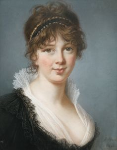 Elisabeth-Louise Vigée Le Brun PORTRAIT DE MRS SPENCER PERCEVAL  SIGNED AND DATED LOWER RIGHT ; PASTEL