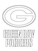 Green Bay Packers Logo  Coloring page