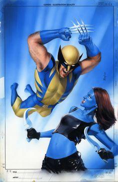 Wolverine vs. Mystique - Mike Mayhew
