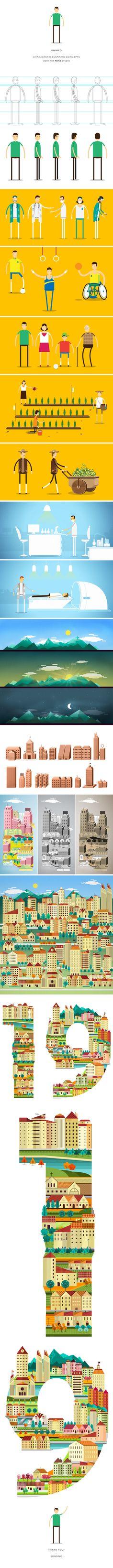 Unimed - Concepts by Raphael Sonsino, via Behance