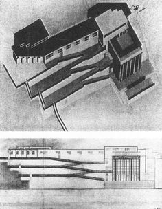 Design for a yacht club, Moscow El Lissitzky, 1925 - 1926