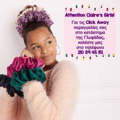 "Claire's Greece on Instagram: ""Τώρα μπορείτε κι εσείς να αποκτήσετε τα υπέροχα Claire's προϊόντα με την υπηρεσία Click Away από το κατάστημά μας στη Γλυφάδα!"" Crochet Hats, Instagram, Fashion, Knitting Hats, Moda, Fashion Styles, Fashion Illustrations"