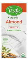 Pacific Natural Foods Non-Dairy Beverage Unsweetened Almond Vanilla